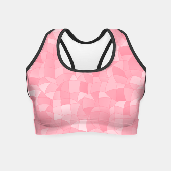 Miniatur Geometric Shapes Fragments Pattern 2 pw Crop Top, Live Heroes