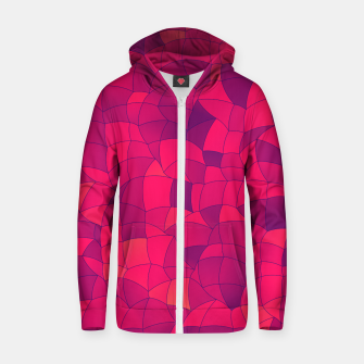 Thumbnail image of Geometric Shapes Fragments Pattern 2 ip3i Zip up hoodie, Live Heroes