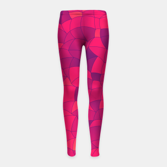 Imagen en miniatura de Geometric Shapes Fragments Pattern 2 ip3i Girl's leggings, Live Heroes