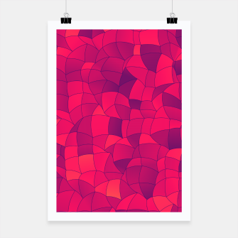 Miniatur Geometric Shapes Fragments Pattern 2 ip3i Poster, Live Heroes