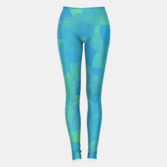 Thumbnail image of Geometric Shapes Fragments Pattern 2 pbt Leggings, Live Heroes