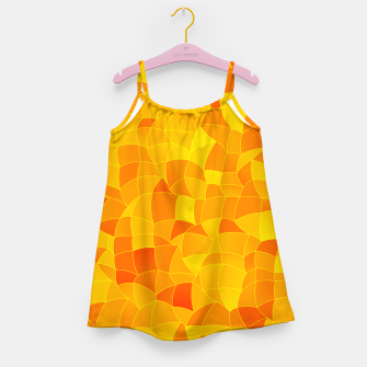 Geometric Shapes Fragments Pattern 2 yri Girl's dress miniature