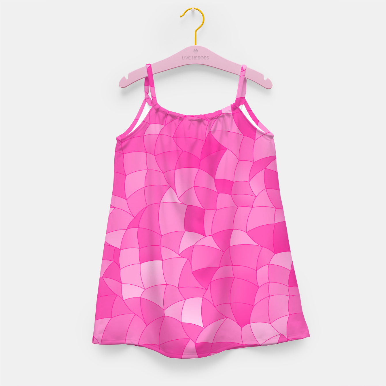 Image of Geometric Shapes Fragments Pattern 2 mag Girl's dress - Live Heroes