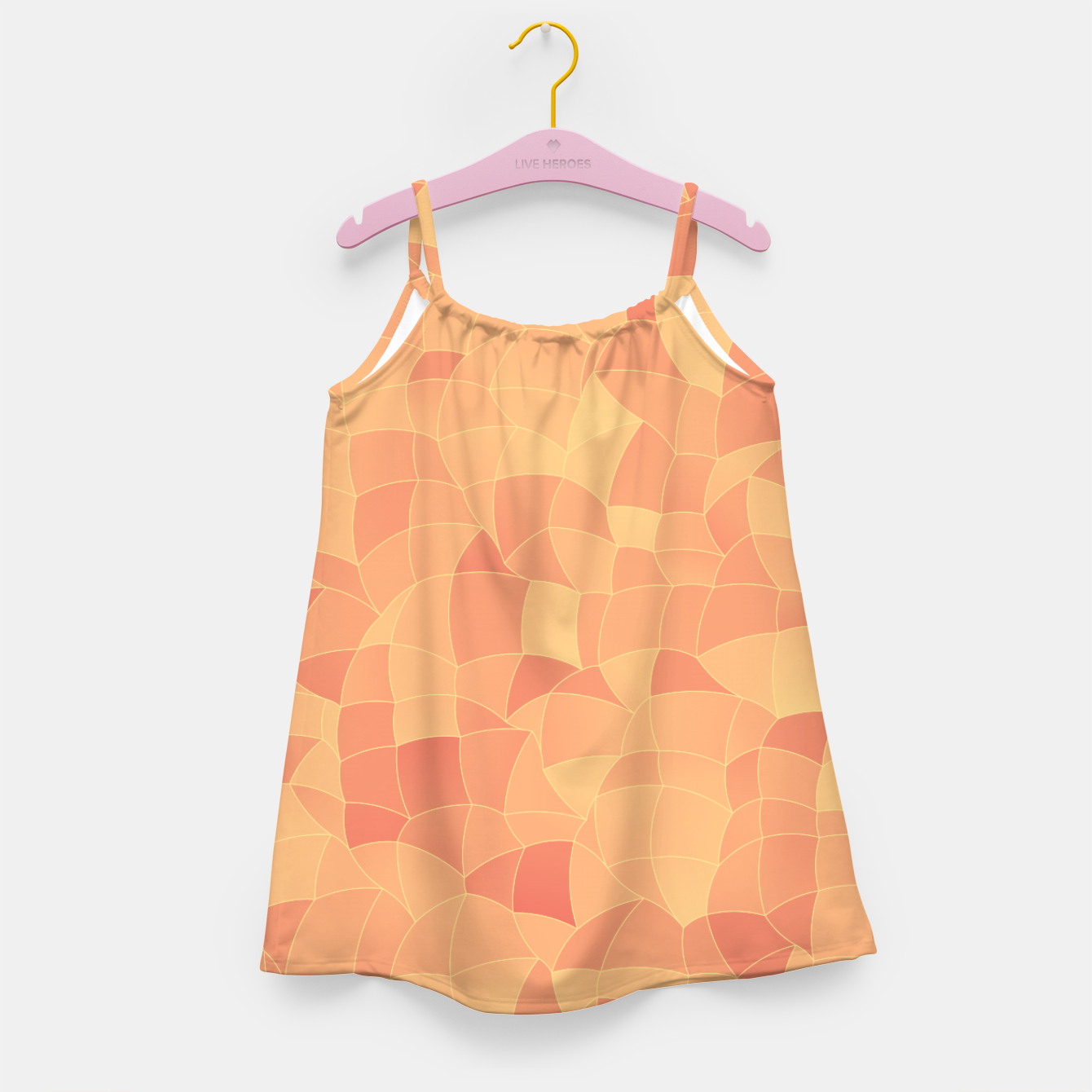 Image of Geometric Shapes Fragments Pattern 2 po Girl's dress - Live Heroes