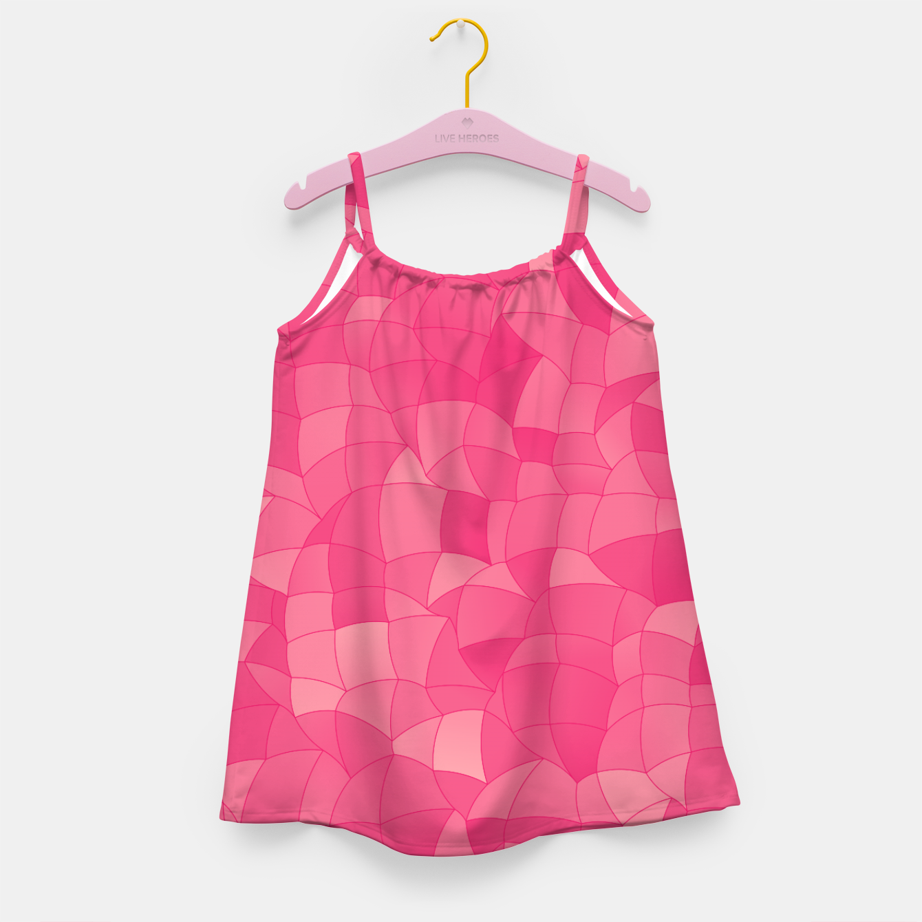 Image of Geometric Shapes Fragments Pattern 2 pp Girl's dress - Live Heroes