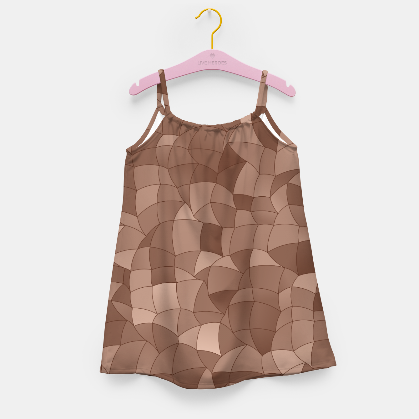 Image of Geometric Shapes Fragments Pattern 2 cr Girl's dress - Live Heroes