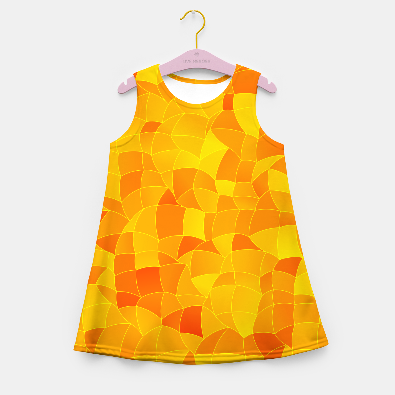 Image of Geometric Shapes Fragments Pattern 2 yri Girl's summer dress - Live Heroes