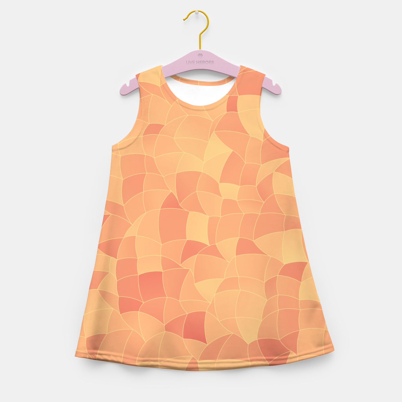 Image of Geometric Shapes Fragments Pattern 2 po Girl's summer dress - Live Heroes