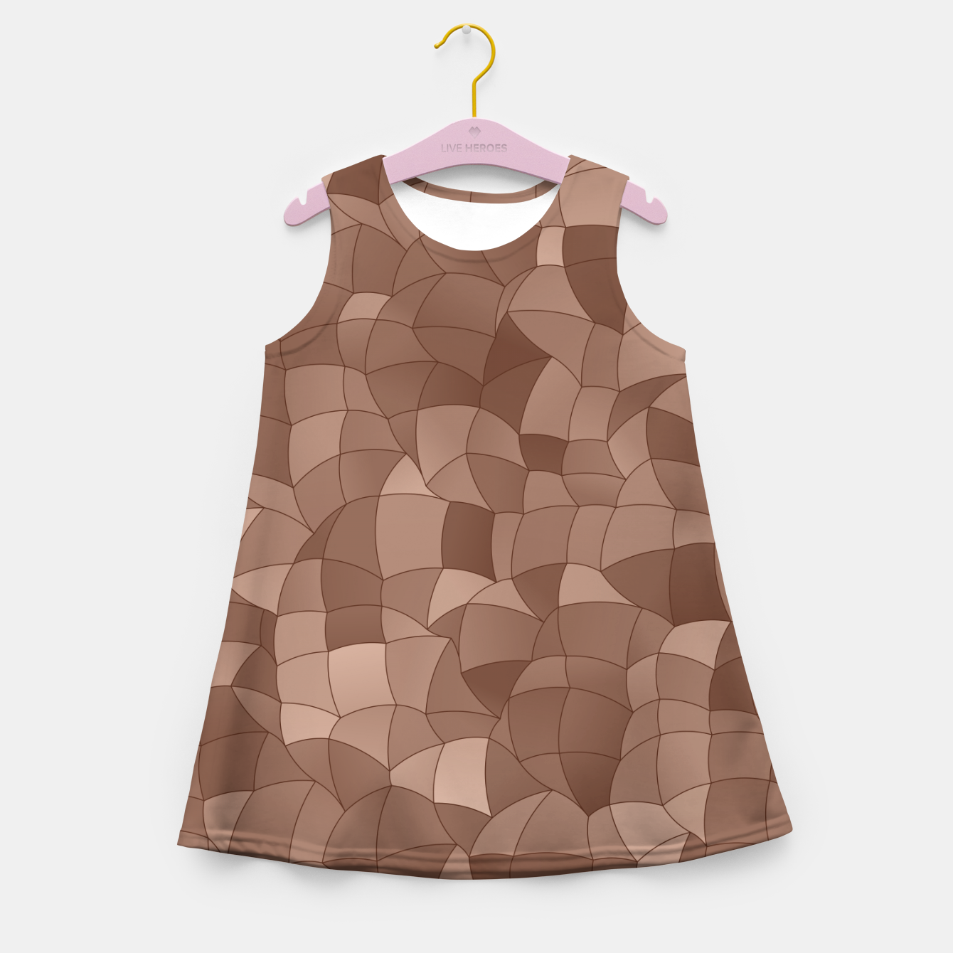 Image de Geometric Shapes Fragments Pattern 2 cr Girl's summer dress - Live Heroes