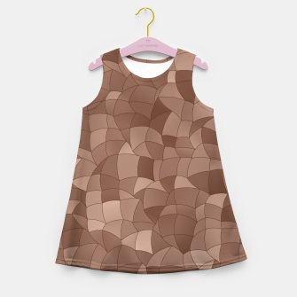 Geometric Shapes Fragments Pattern 2 cr Girl's summer dress miniature