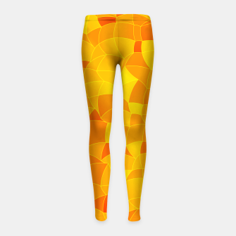 Thumbnail image of Geometric Shapes Fragments Pattern 2 yri Girl's leggings, Live Heroes