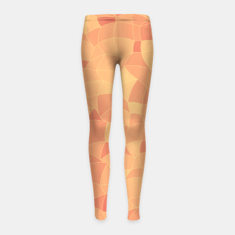 Thumbnail image of Geometric Shapes Fragments Pattern 2 po Girl's leggings, Live Heroes