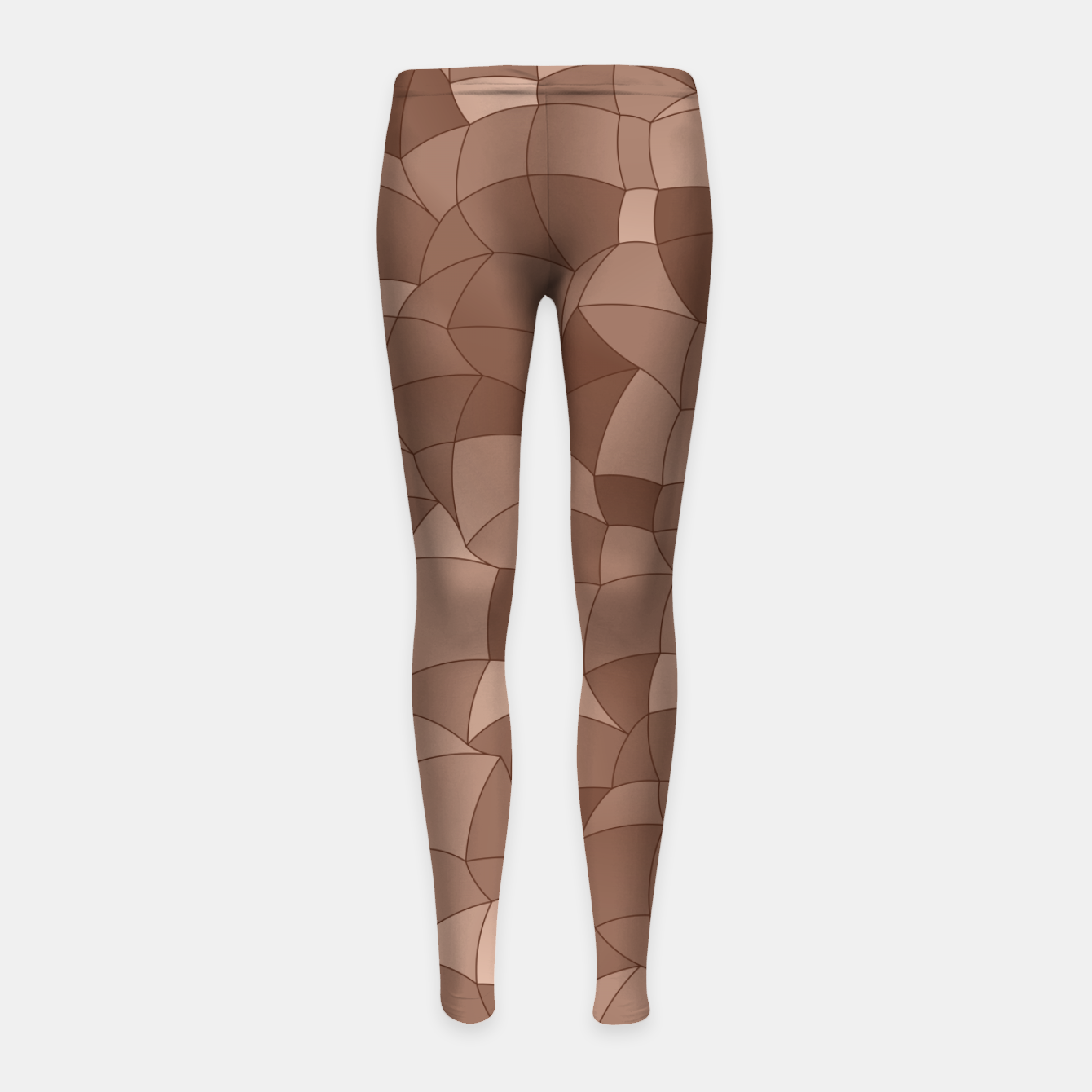 Image of Geometric Shapes Fragments Pattern 2 cr Girl's leggings - Live Heroes