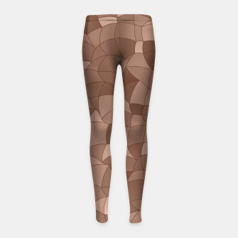 Thumbnail image of Geometric Shapes Fragments Pattern 2 cr Girl's leggings, Live Heroes