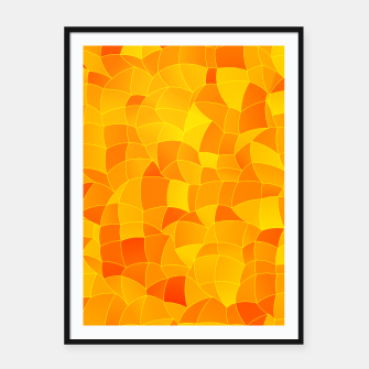 Miniatur Geometric Shapes Fragments Pattern 2 yri Framed poster, Live Heroes