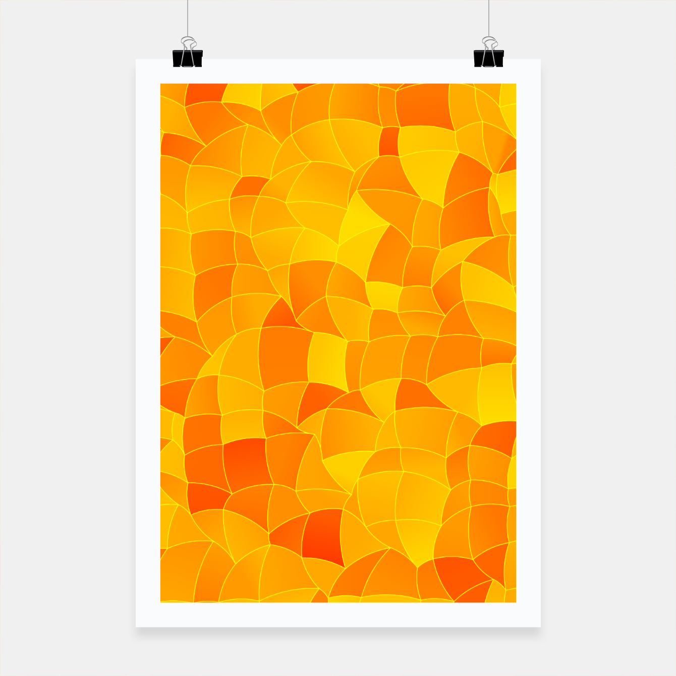 Image de Geometric Shapes Fragments Pattern 2 yri Poster - Live Heroes