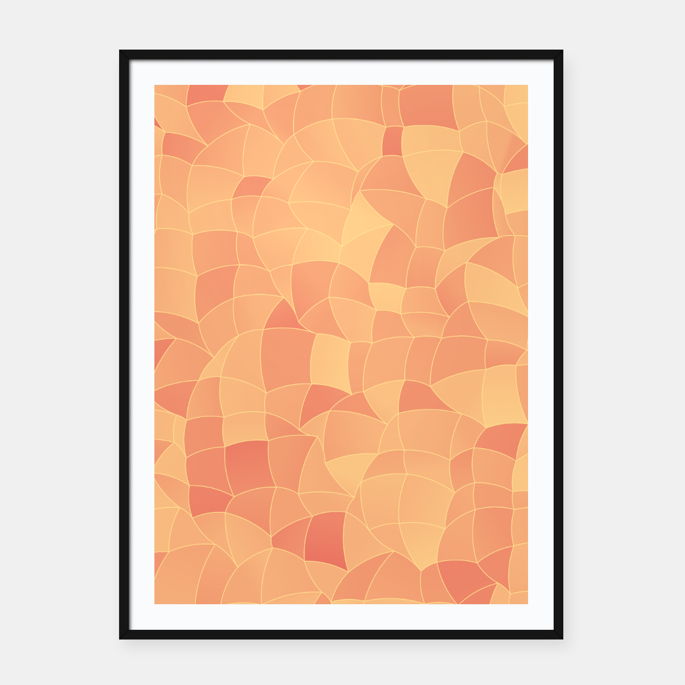 Image of Geometric Shapes Fragments Pattern 2 po Framed poster - Live Heroes