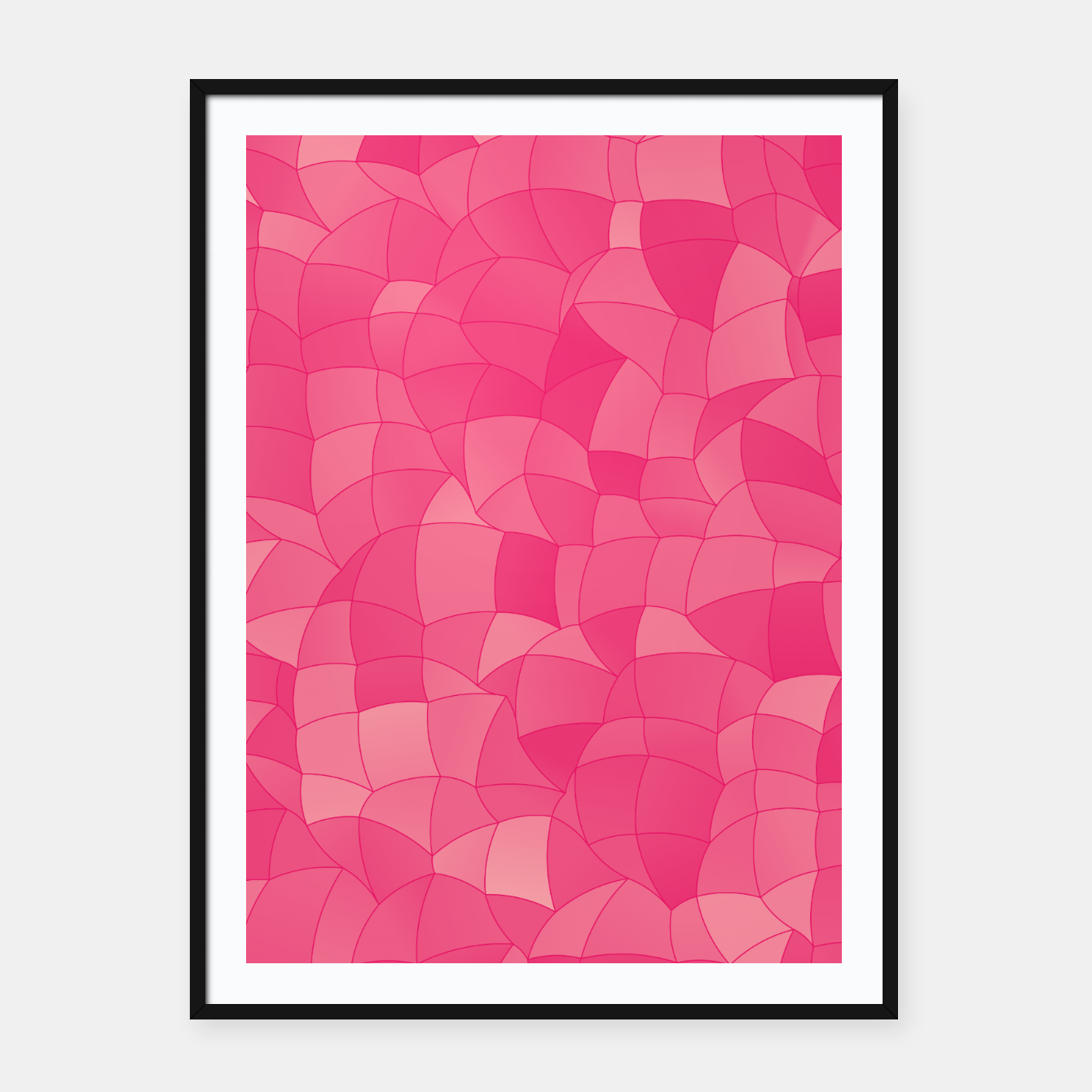 Image of Geometric Shapes Fragments Pattern 2 pp Framed poster - Live Heroes