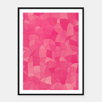 Miniatur Geometric Shapes Fragments Pattern 2 pp Framed poster, Live Heroes