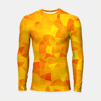 Geometric Shapes Fragments Pattern 2 yri Longsleeve rashguard  miniature