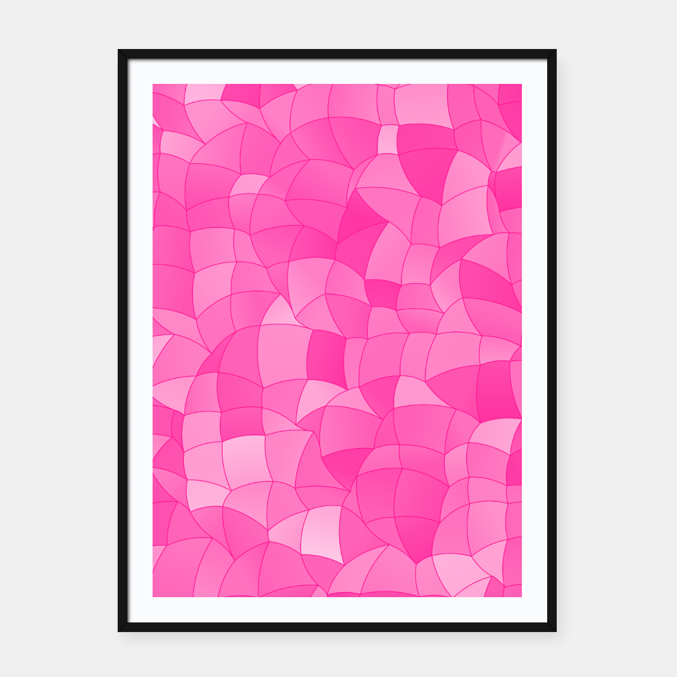 Image of Geometric Shapes Fragments Pattern 2 mag Framed poster - Live Heroes