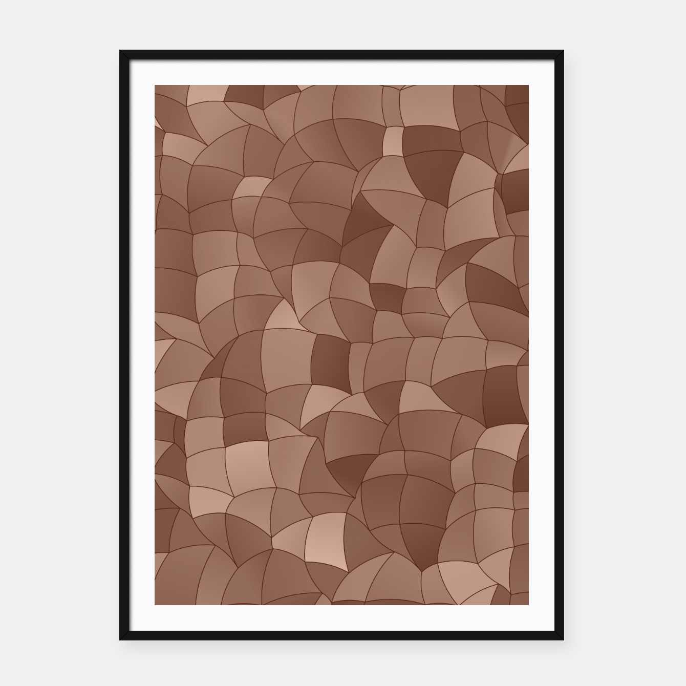 Image of Geometric Shapes Fragments Pattern 2 cr Framed poster - Live Heroes