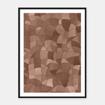 Miniatur Geometric Shapes Fragments Pattern 2 cr Framed poster, Live Heroes
