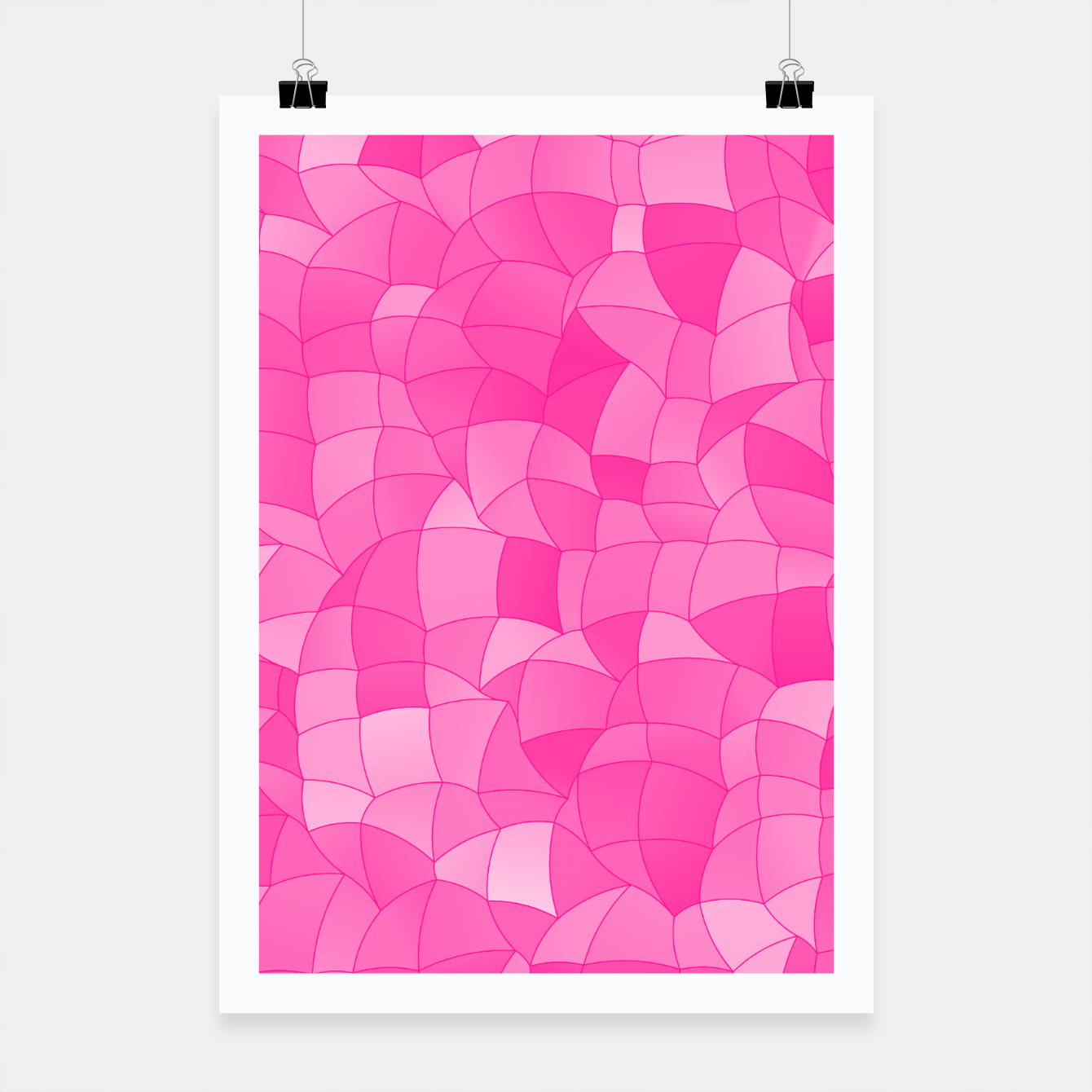 Foto Geometric Shapes Fragments Pattern 2 mag Poster - Live Heroes