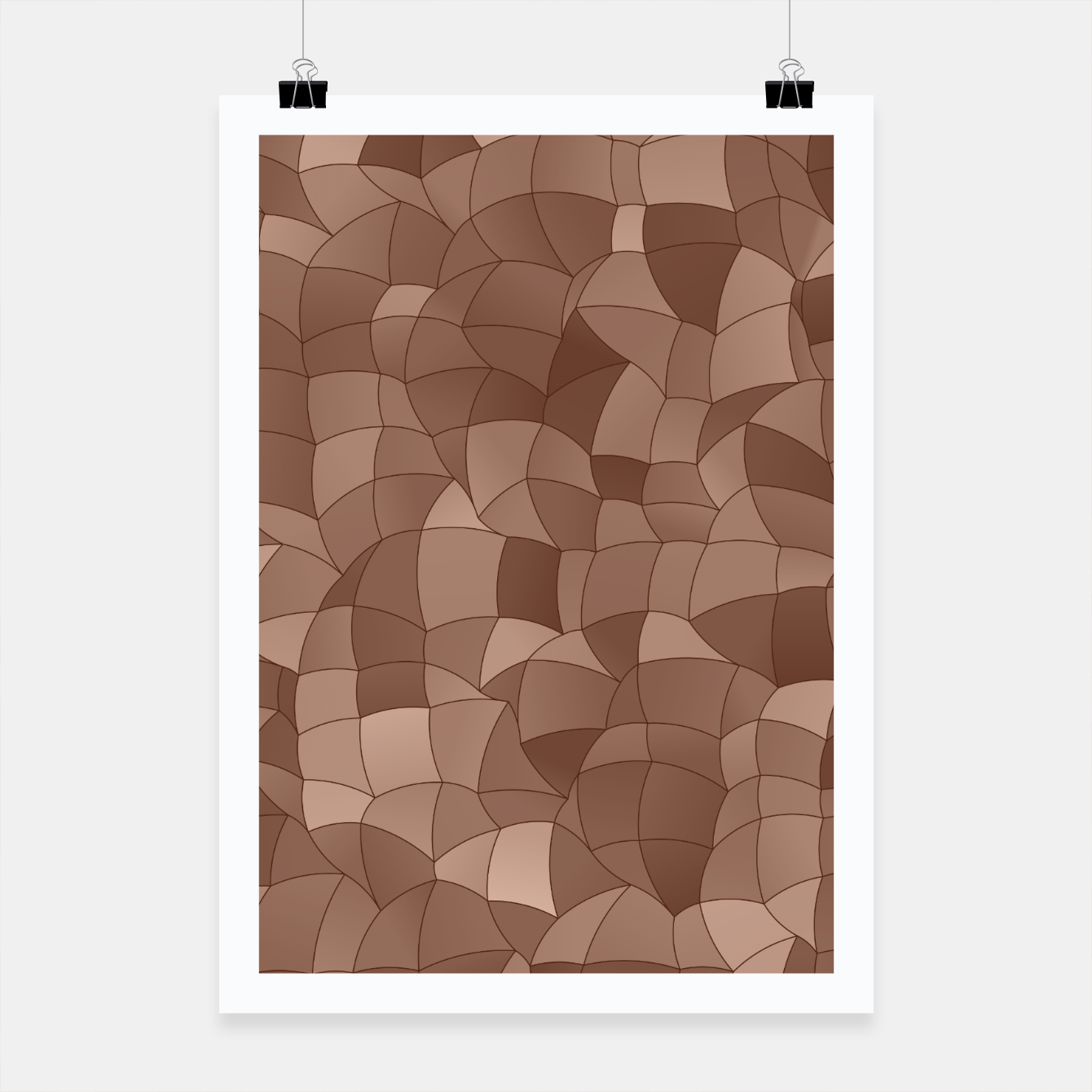 Image of Geometric Shapes Fragments Pattern 2 cr Poster - Live Heroes