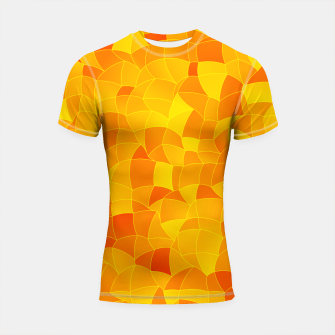Miniatur Geometric Shapes Fragments Pattern 2 yri Shortsleeve rashguard, Live Heroes