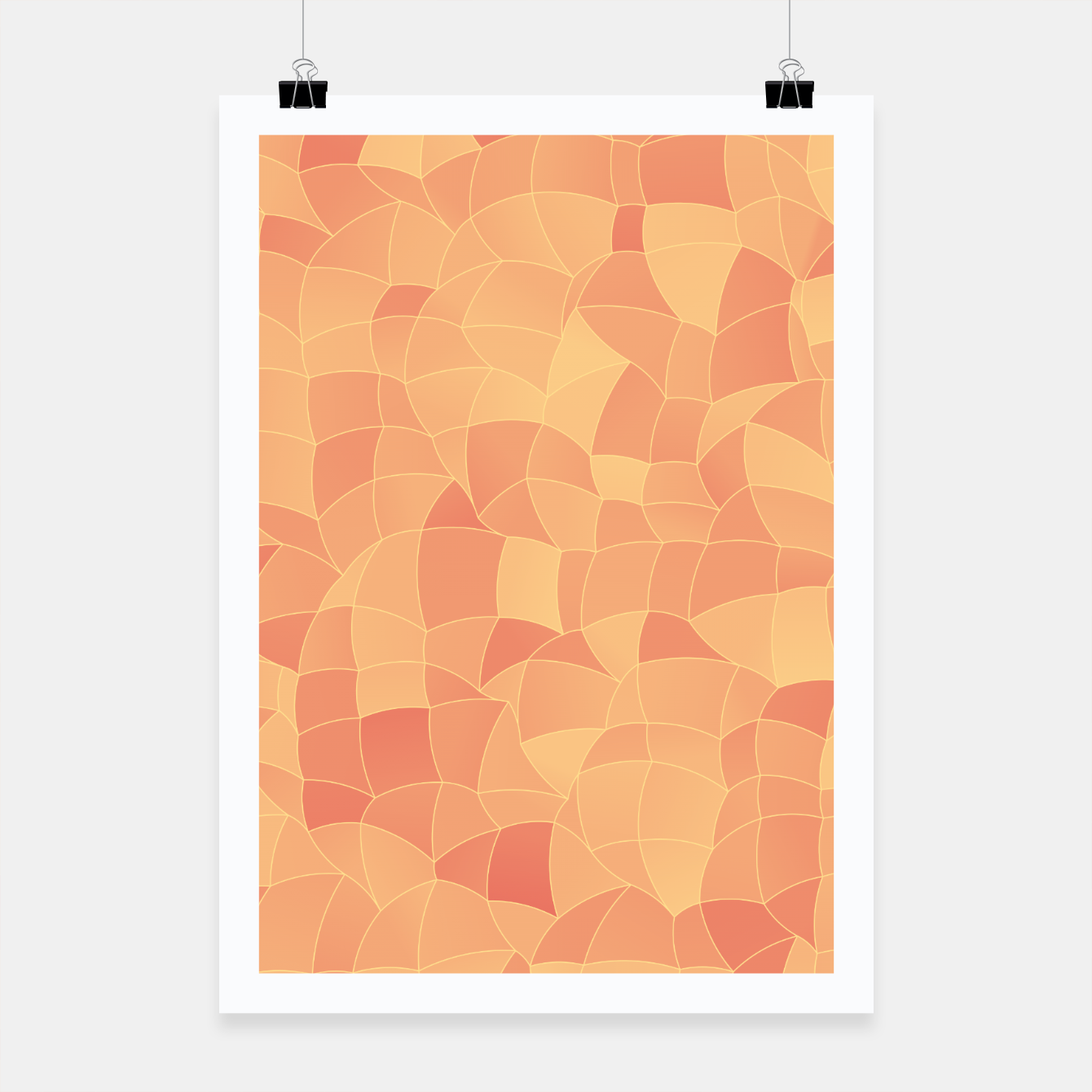 Image of Geometric Shapes Fragments Pattern 2 po Poster - Live Heroes