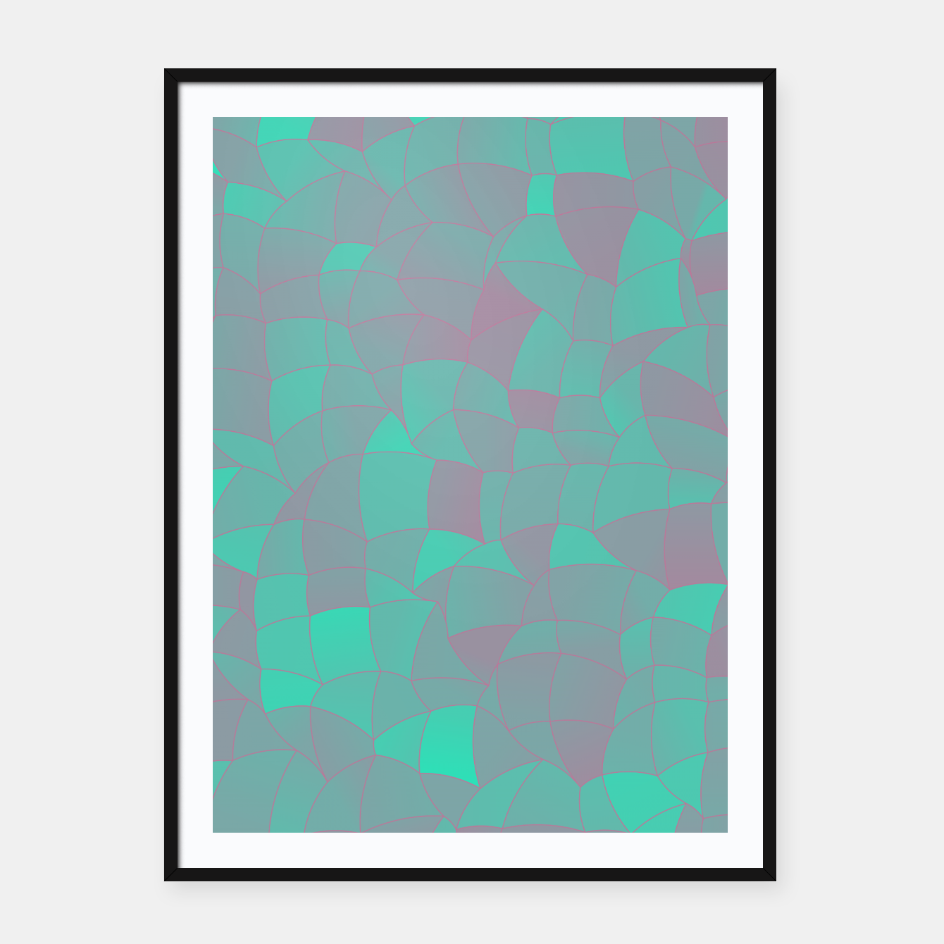 Image of Geometric Shapes Fragments Pattern 2 tq Framed poster - Live Heroes