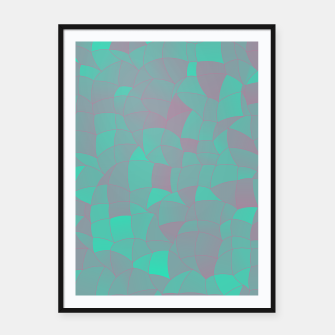 Thumbnail image of Geometric Shapes Fragments Pattern 2 tq Framed poster, Live Heroes