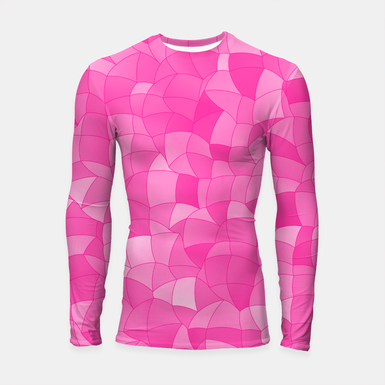 Image of Geometric Shapes Fragments Pattern 2 mag Longsleeve rashguard  - Live Heroes