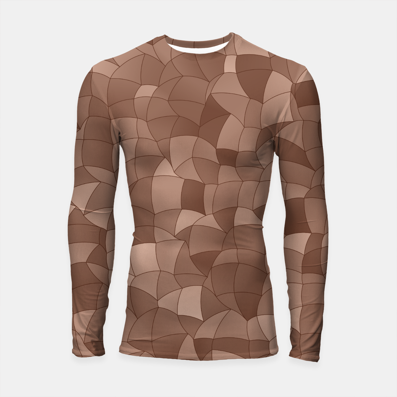 Image of Geometric Shapes Fragments Pattern 2 cr Longsleeve rashguard  - Live Heroes