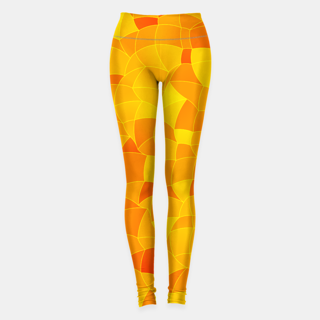 Image of Geometric Shapes Fragments Pattern 2 yri Leggings - Live Heroes