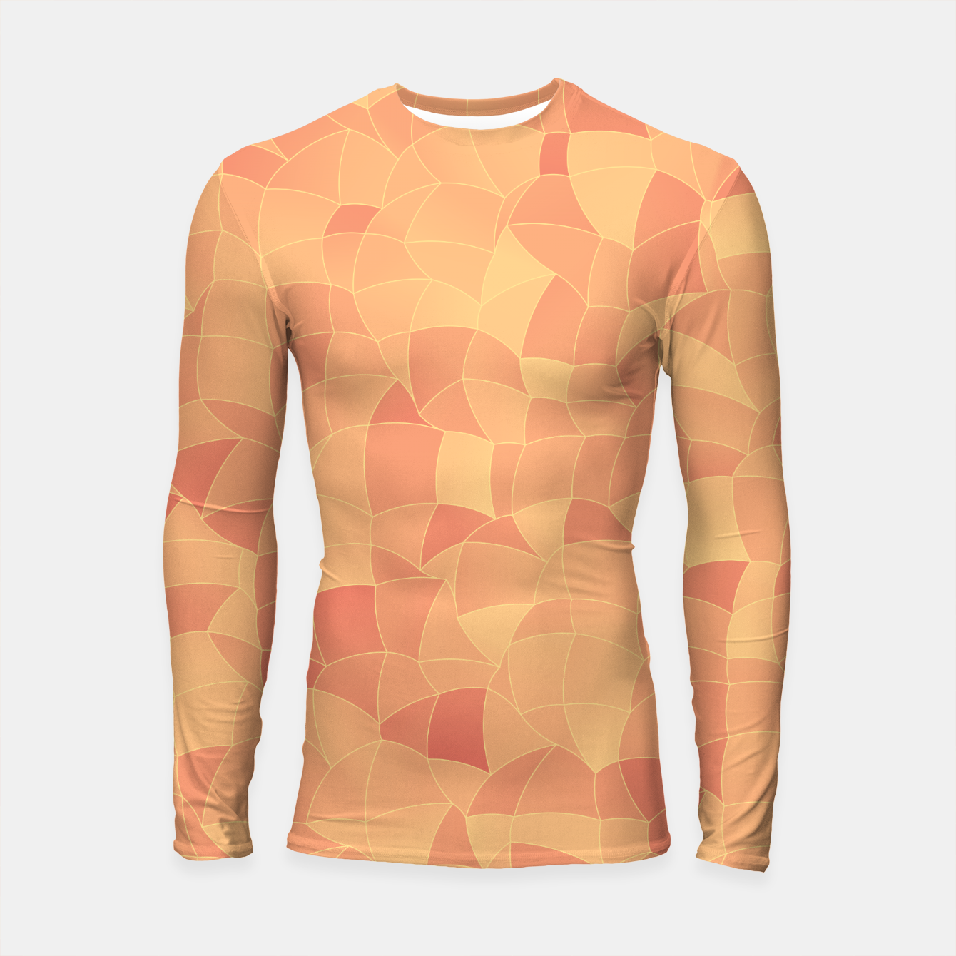 Image of Geometric Shapes Fragments Pattern 2 po Longsleeve rashguard  - Live Heroes