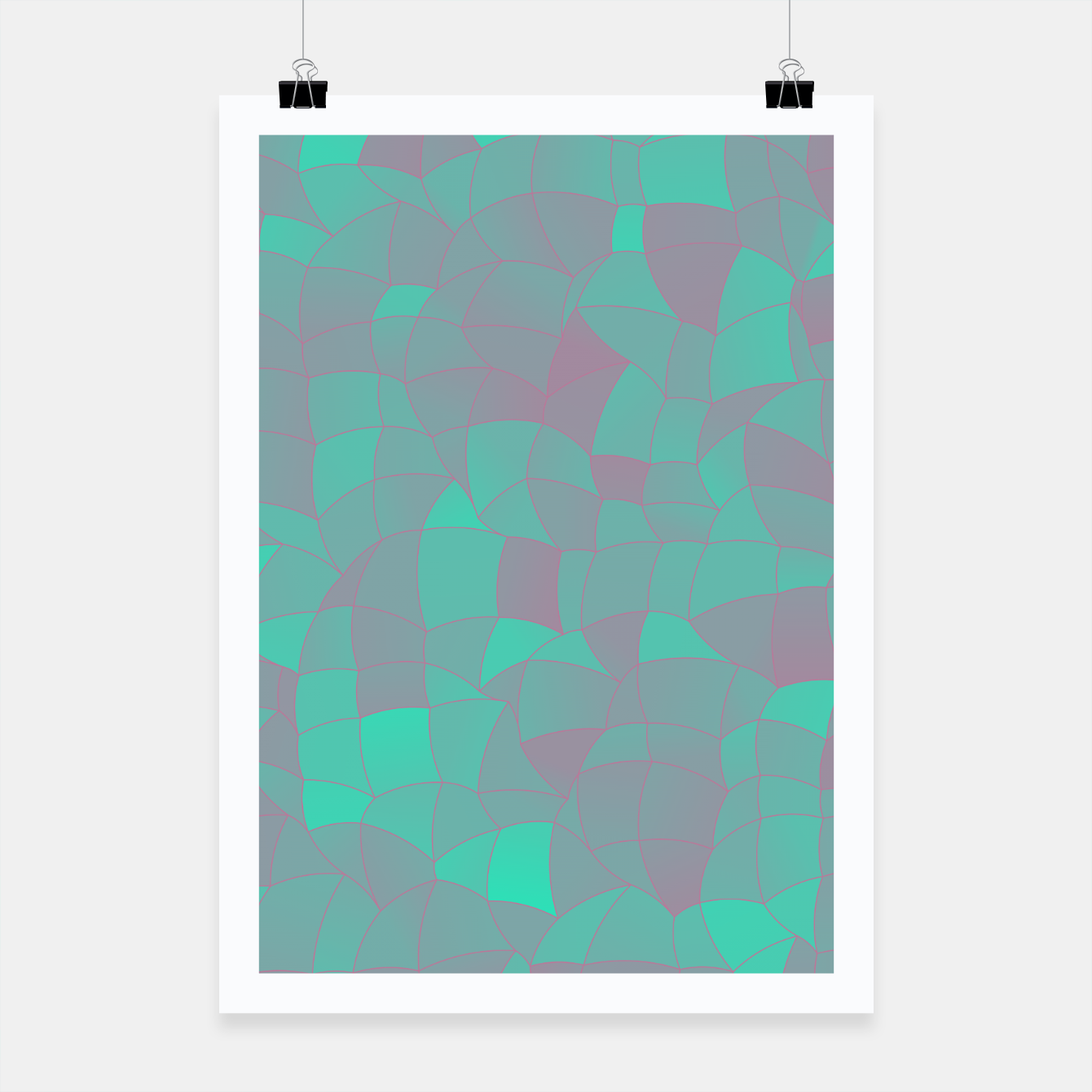 Image of Geometric Shapes Fragments Pattern 2 tq Poster - Live Heroes