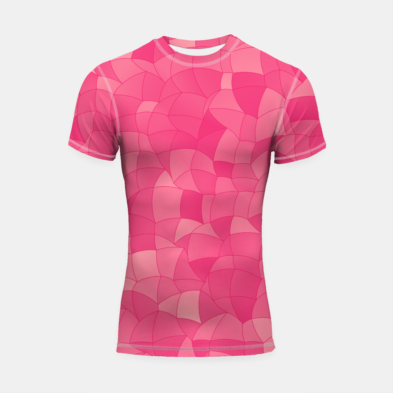 Image of Geometric Shapes Fragments Pattern 2 pp Shortsleeve rashguard - Live Heroes