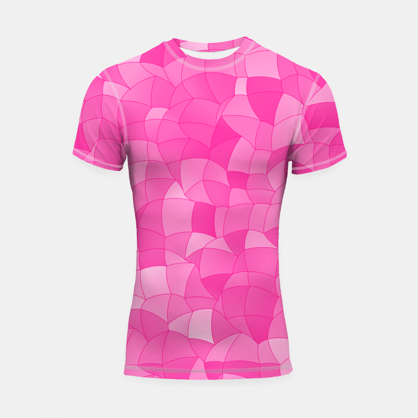 Image de Geometric Shapes Fragments Pattern 2 mag Shortsleeve rashguard - Live Heroes