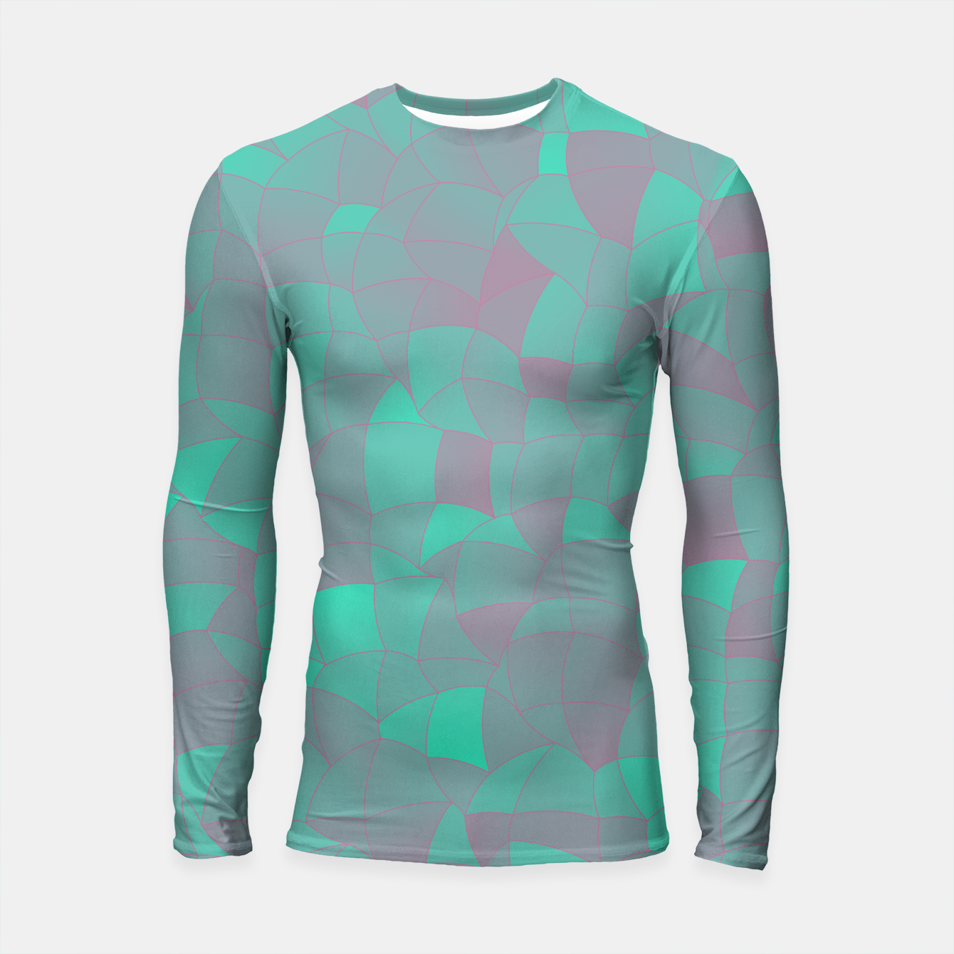 Image of Geometric Shapes Fragments Pattern 2 tq Longsleeve rashguard  - Live Heroes
