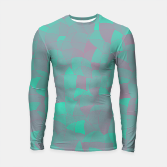 Thumbnail image of Geometric Shapes Fragments Pattern 2 tq Longsleeve rashguard , Live Heroes