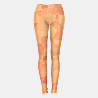 Miniatur Geometric Shapes Fragments Pattern 2 po Leggings, Live Heroes