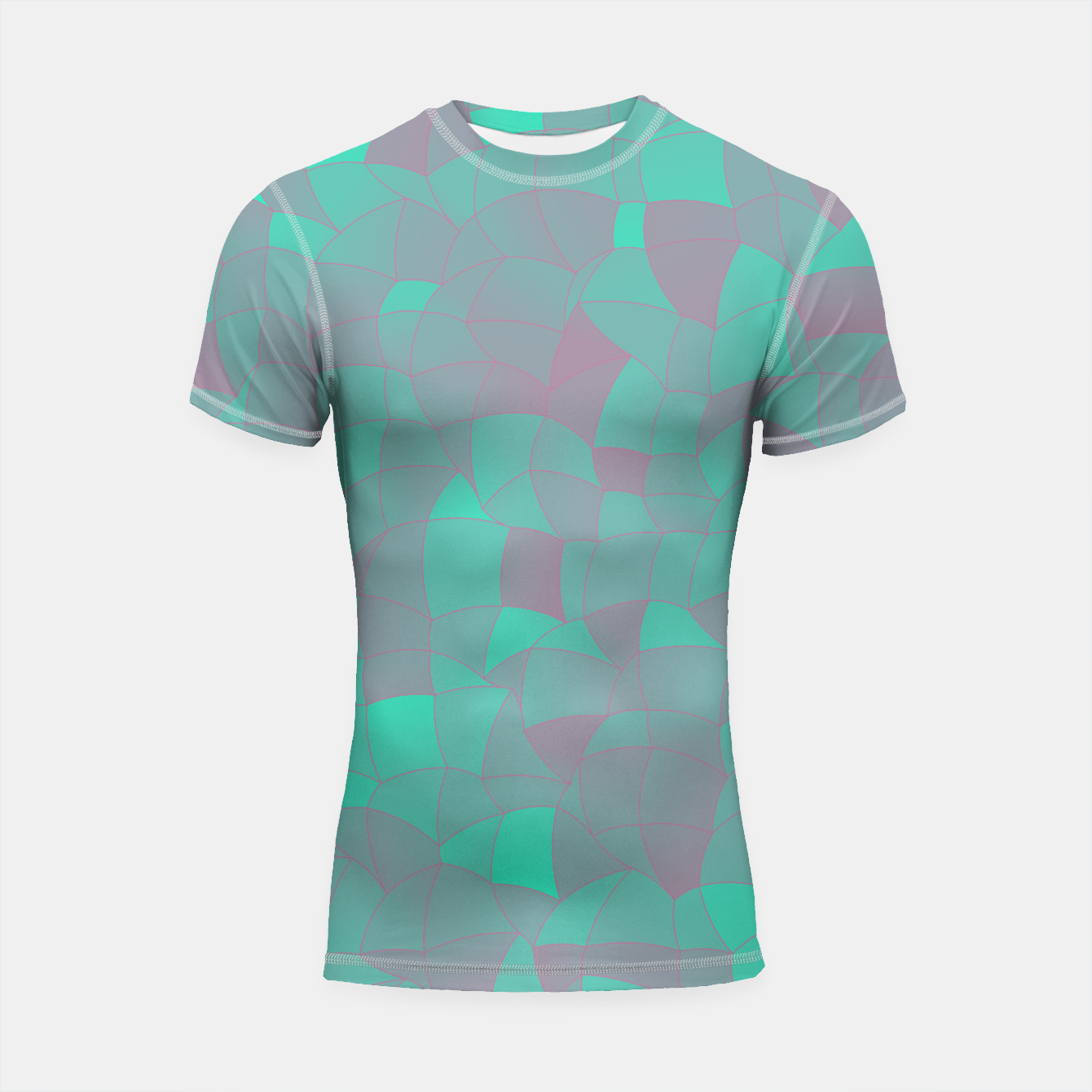 Image de Geometric Shapes Fragments Pattern 2 tq Shortsleeve rashguard - Live Heroes
