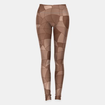 Miniatur Geometric Shapes Fragments Pattern 2 cr Leggings, Live Heroes