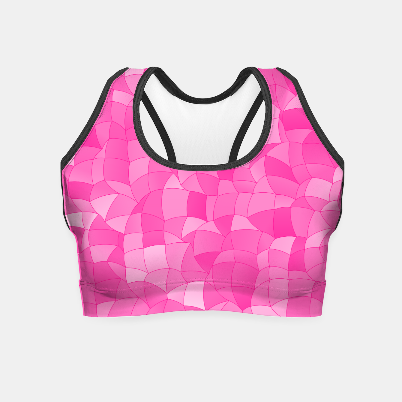 Image of Geometric Shapes Fragments Pattern 2 mag Crop Top - Live Heroes