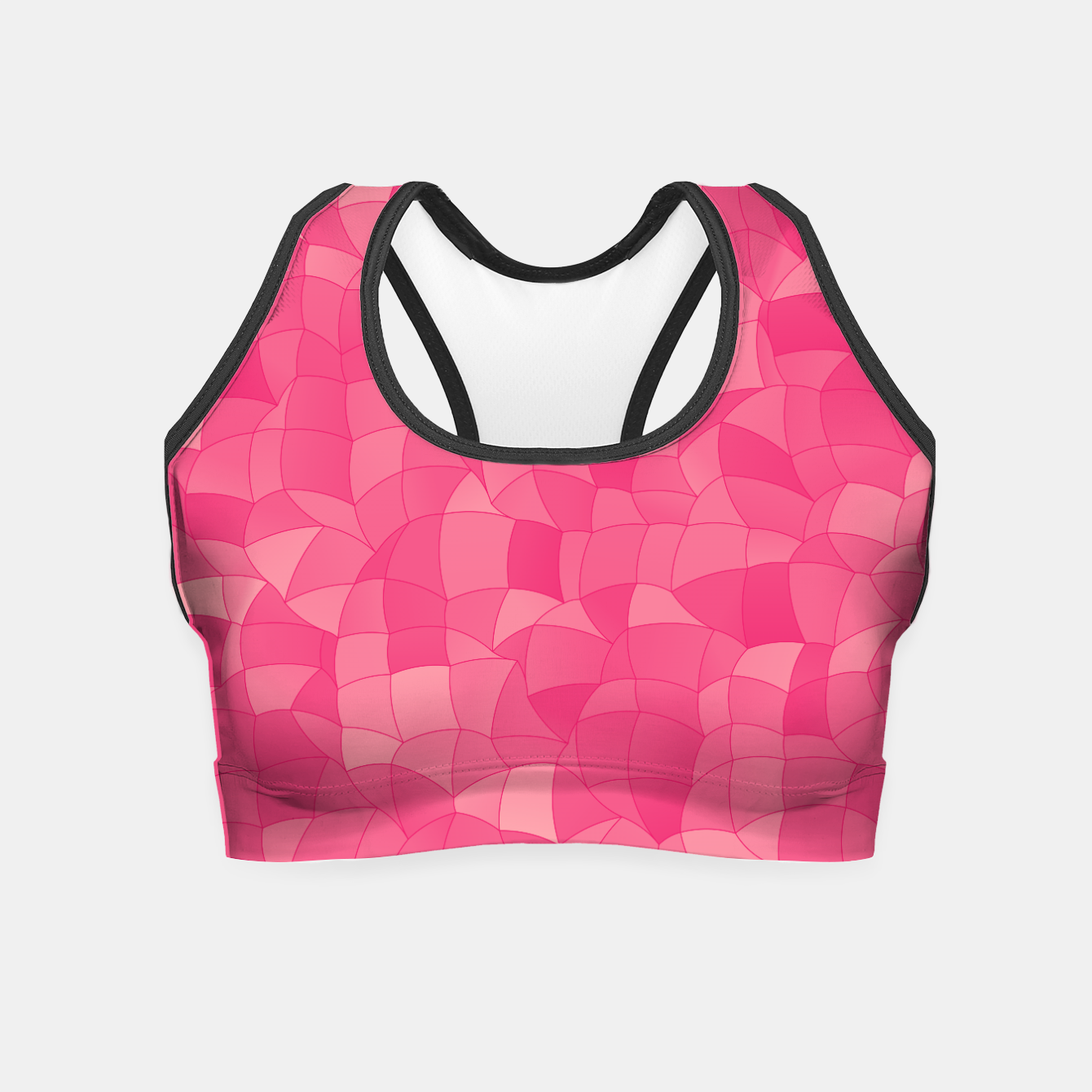 Foto Geometric Shapes Fragments Pattern 2 pp Crop Top - Live Heroes