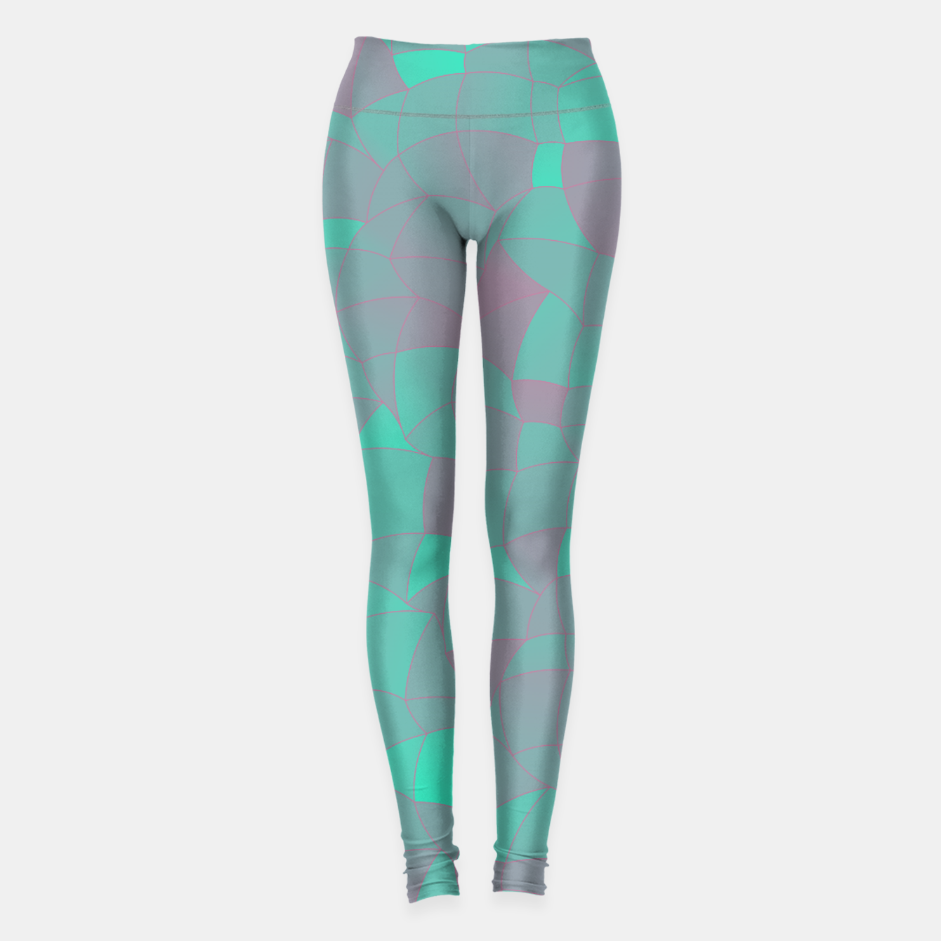 Image de Geometric Shapes Fragments Pattern 2 tq Leggings - Live Heroes