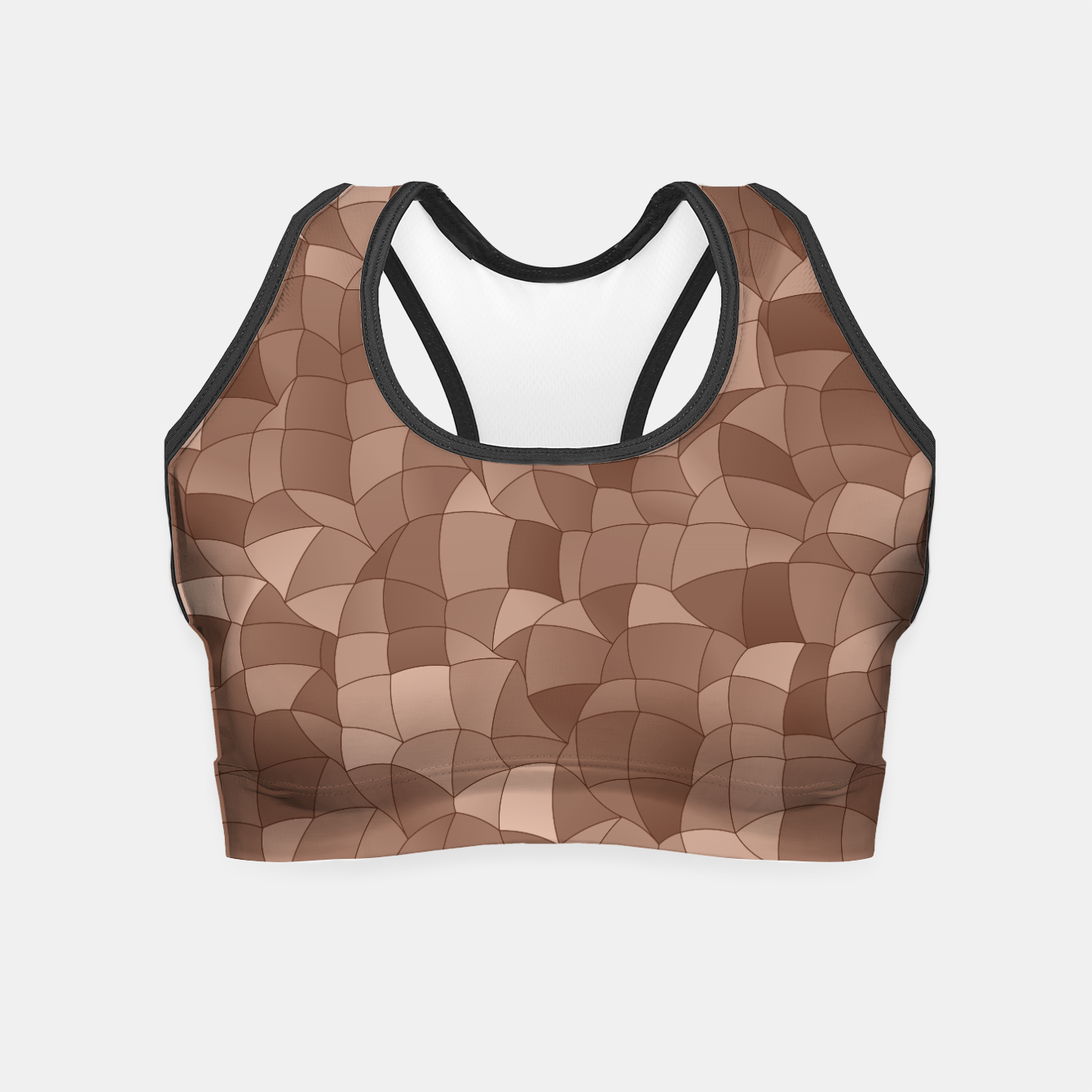 Image de Geometric Shapes Fragments Pattern 2 cr Crop Top - Live Heroes