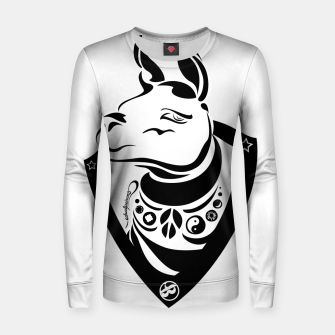 Thumbnail image of Llama love Women sweater, Live Heroes